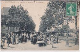 PUTEAUX : LE MARCHE - AVENUE DE LA DEFENSE - ECRITE EN 1912 -* 2 SCANS *- - Puteaux