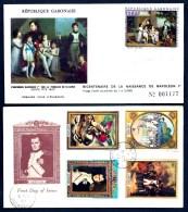 LOT 2 FDC NAPOLÉON 1er- GABON + GRENADA- TIMBRES DENTELÉS - CAD  DU 23 AVRIL 69  + 71 +  CAD BICENTENAIRE- - Napoleone