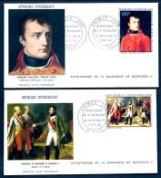 LOT 2 FDC NAPOLÉON 1er- REPUBLIQUE CENTREAFRICAINE- TIMBRES DENTELÉS 100 FR ET 130 FR - CAD  BANGUI 1969 - Napoleon