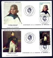 LOT 4 FDC NAPOLÉON 1er- REPUBLIQUE DU DAHOMEY- TIMBRES DENTELÉS- CAD COTONOU DU BICENTENAIRE  14 AVRIL 69- 2 SCANS - Napoleon
