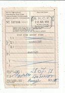 Permis International , S.N.C.F. , 1958 , Bruxelles , Quevy , 2 Scans - Titres De Transport