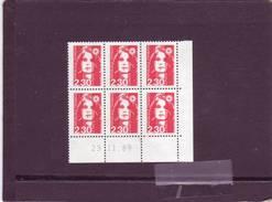 N° 2614 - 2,30F Marianne De BRIAT - 1° Tirage Du 20.11 Au 30.11.89 - RGR1 - 23.11.1989 - - 1990-1999
