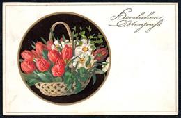 A8027 - Alte Litho Glückwunschkarte - Ostern - Gel 1917 - Meissner & Buch 2274 - Pâques