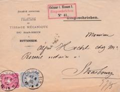 Rdc  De Colmar I Elsass 1882 - Alsace Lorraine