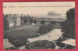 Herchies - Vue Du Haut De La Tour Du Vieux Château , à Droite Propriété De M. Le Notaire Bernard ( Voir Verso ) - Jurbise