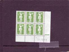 N° 2622 - 2,10F Marianne De BRIAT - 4° Tirage Du 21.12.89 Au 22.01.90 - 21.12.89- (RE) - 1990-1999