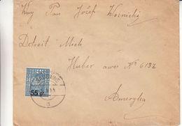 Pologne - Lettre De 1935 - Oblit Sadovine - Exp Vers Detroit Aux Etats Unis - Covers & Documents