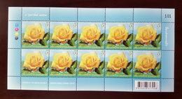 Thailand Stamp FS 2016 Symbol Of Love - Queen Sirikit Rose - Thaïlande