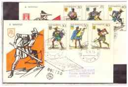 FDC4692   -   SAN MARINO  7.11.73   /    FDC    BALESTRE E STEMMI DEI CASTELLI - Francobolli