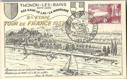 Tour De France Cycliste    05 Juillet    1957      Thonon Les Bains    9ème    étape - Ciclismo