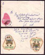 Sierra Leone Letter - Unusual Shape Stamp On Cover - Sierra Leone (1961-...)