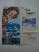 MARIAZELL. STEIERMARK (STYRIA) - AUSTRIA, ALPS, 40s. 8 PAGES. BERGHOTEL BÜRGERALPE. - Dépliants Touristiques