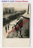 AVION Abattu-No.1420/V-NON SITUEE-3x CARTES PHOTOS Allemandes-Guerre 14-18-1 WK-AVIATION-FLIEGEREI-Militaria- - 1914-1918: 1ère Guerre
