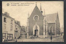 +++ CPA - LEUVEN - LOUVAIN - Eglise Des Pères Picpus - Kerk - A Gauche : Estaminet  // - Leuven