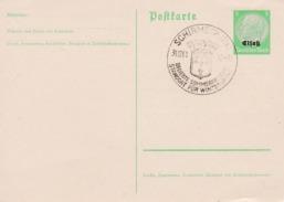 Entier Postal Hindenburg  Elsass - Alsace-Lorraine