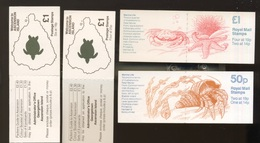 4 Carnets Tortues Gazelle Et Couverture De Vie Marine Pour GB Et  Ascension Island - Stamps