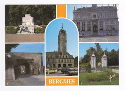 59 Bergues En 5 Vues Porte D'Hondschoote Musée Belles Voitures Citroën Ami 6 Dyane GS - Bergues