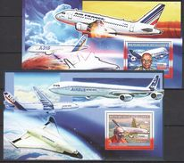 S337 2006 DE GUINEE AVIATION AIRBUS 2BL MNH - Airplanes