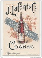 """-16- Tarif  COGNAC - Carte Publicitaire De Visite De La Maison """" J. LAFONT & Cie """" -excellent état - Cartes De Visite"""