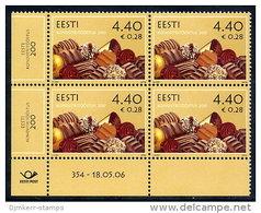 ESTONIA 2006 Bicentenary Of Confectionery Manufacture  Block Of 4 MNH / **.  Michel 556 - Estonia