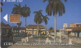 TARJETA TELEFONICA DE CUBA (PLAZA MAYOR Y PALACIO DEL CONDE) (348) - Cuba