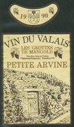 Rare // Etiquette // Petite Arvine 1990, Jean Nanchen, Flanthey, Valais,Suisse - Etiquettes