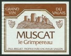 Rare // Etiquette // Muscat, Le Grimpereau, Paul Briguet Saillon, Valais,Suisse - Etiquettes