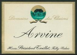Rare // Etiquette // Arvine, Hoirie Président Troillet, Fully, Valais,Suisse - Etiquettes