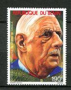 Thème Général De Gaulle - Bénin - Yvert 690 Neuf Xxx - De Gaulle (Général)