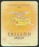 Rare // Etiquette // Muscat De Saillon, Cave Régalesse à Fully, Valais,Suisse - Etiquettes
