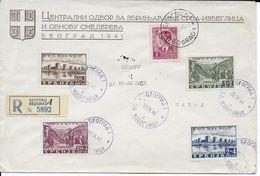 1941 - SERBIE OCCUPATION ALLEMANDE - ENVELOPPE RECO FDC De BELGRADE => CACAK - Serbie