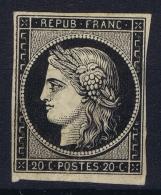 France: Yv Nr  3 B  Chamais Not Used (*) SG Plie - 1849-1850 Cérès