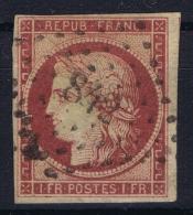 France: Yv Nr  6b Carmin Foncé Obl./Gestempelt/used Signed/ Signé/signiert Calves PC 832 Maignelay-Montigny - 1849-1850 Ceres