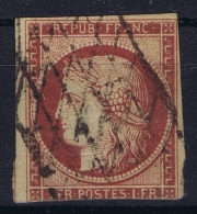 France: Yv Nr  6a Carmin Clair Obl./Gestempelt/used - 1849-1850 Ceres