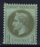 France: Yv Nr 25 MH/* Falz/ Charniere  1870 - 1863-1870 Napoleon III With Laurels