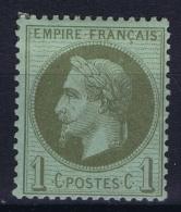 France: Yv Nr 25 MH/* Falz/ Charniere  1870 - 1863-1870 Napoleon III Gelauwerd