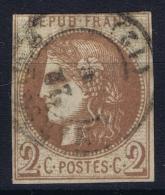 France: Yv Nr 40 A  Mi Nr 37 A Obl./Gestempelt/used  Avec Certificate - 1870 Bordeaux Printing