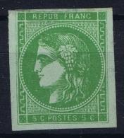 France: Yv Nr 42 B  Mi Nr 39 B  Regummé  Report II - 1870 Uitgave Van Bordeaux