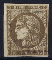 France: Yv Nr 47  Mi Nr 42 A  Obl./Gestempelt/used Signed/ Signé/signiert Pfenniger - 1870 Bordeaux Printing