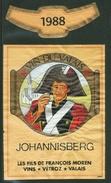 Rare // Etiquette // Johannisberg 1988, Les Fils De François Morens,Vétroz, Valais,Suisse - Etiquettes