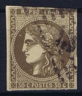 France: Yv Nr 47  Mi Nr 42 A  Obl./Gestempelt/used - 1870 Uitgave Van Bordeaux