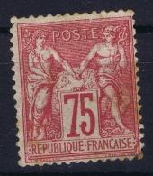 France: Yv Nr 71  Mi 66 I  MH/* Falz/ Charniere Spots - 1876-1878 Sage (Type I)