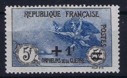 France: Yv Nr 169 MH/* Falz/ Charniere 1922 Orphelins De Guerre - France