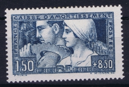 France: Yv Nr 252 MH/* Falz/ Charniere 1928 Caisse  D'amortissement, Type I - France