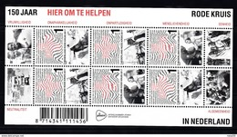 Nederland 2017 Nvph Blok 3539 ,Mi Nr 3602 - 3604 KB : 150 Jaar Rode Kruis, Red Cross - Periodo 2013-... (Willem-Alexander)