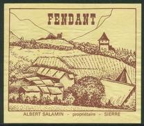 Rare // Etiquette // Fendant, Albert Salamin Sierre Valais,Suisse - Etiquettes