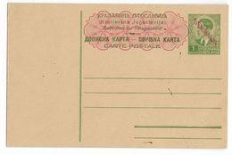 1941 - SERBIE OCCUPATION ALLEMANDE - CARTE ENTIER POSTAL YOUGOSLAVIE SURCHARGEE NEUVE - Mi P2 (60 EURO) - Serbie