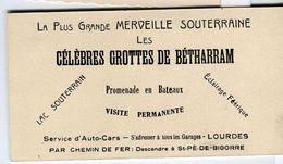 GROTTES Betharram Bateaux Visite Lac LOURDES 65270 Saint-Pé-de-Bigorre Bigorre Recto Verso 65 - Dépliants Turistici