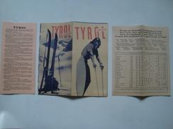 TYROL. AUSTRIA -  AUSTRIA, 1949.  20 PAGE BROCHURE. ITALIAN TEXT. B/W PHOTOS. MINT CONDITION. - Dépliants Touristiques