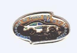 Pin's  Sport  Automobile  Voiture  N°  92  TRYBA  Championnat  De  France  De  La  Montagne 1992 - Rallye